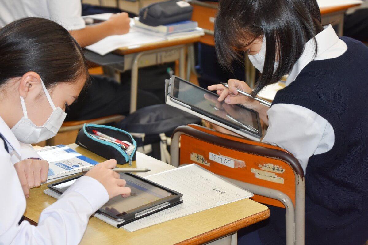 さいたま市立大宮北高等学校 授業中の教室の様子