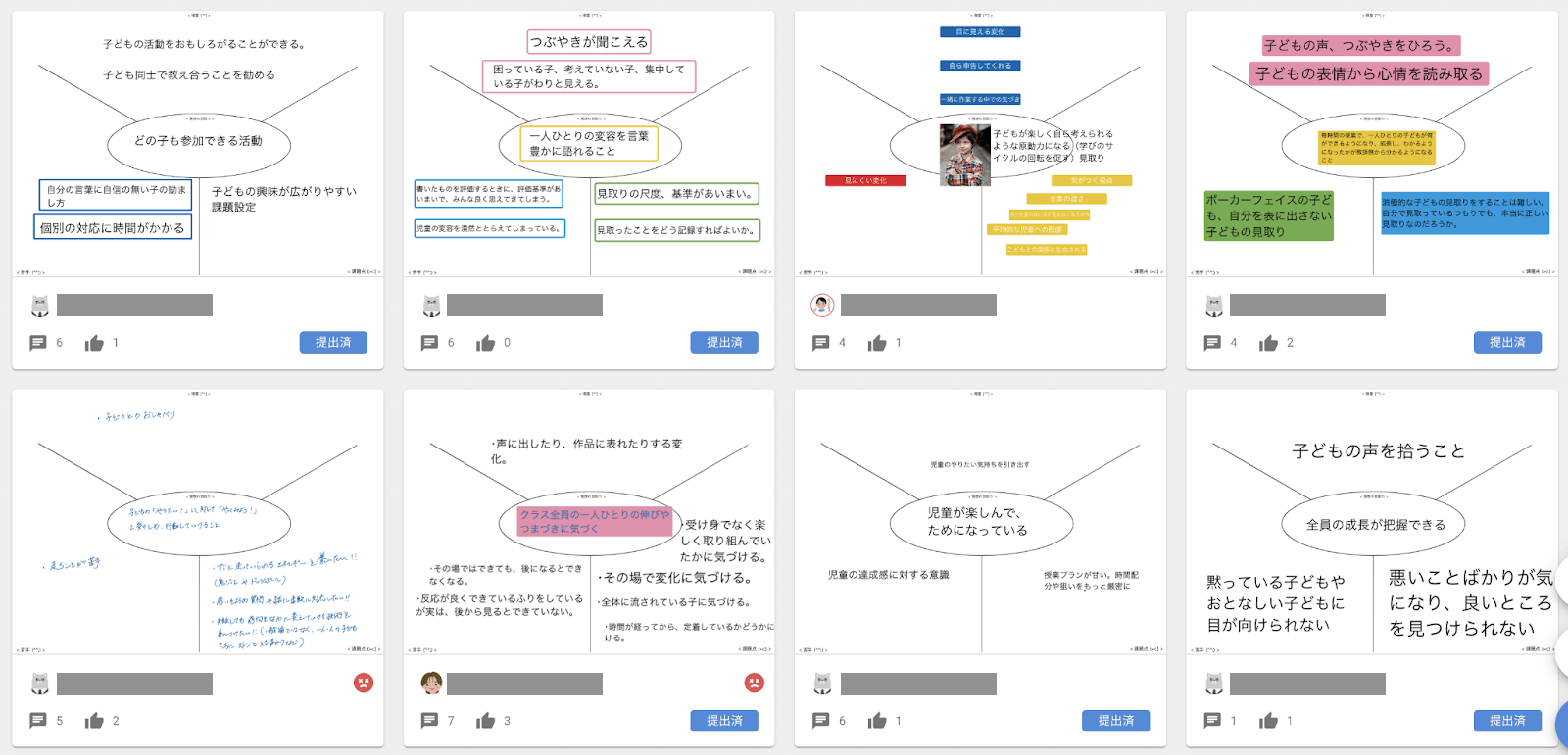 記入にはシンキングツールのYチャートを使用